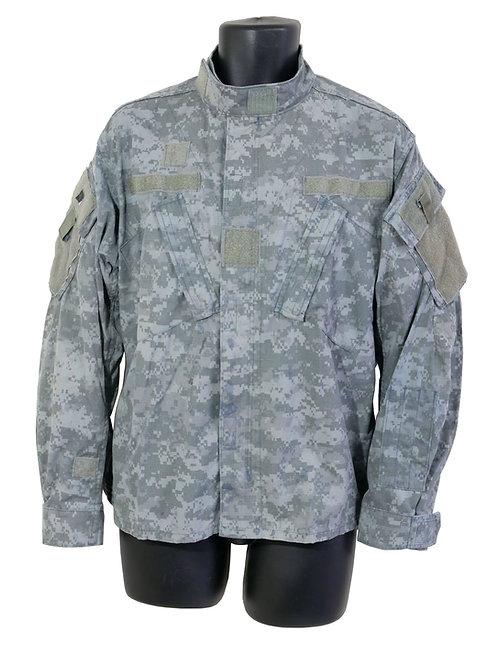 アメリカ軍 看守ジャケット 青染めACU 背面字あり L ※表記Mショート