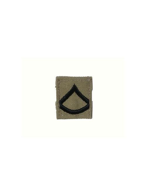 アメリカ軍 襟章 上等兵 カーキ
