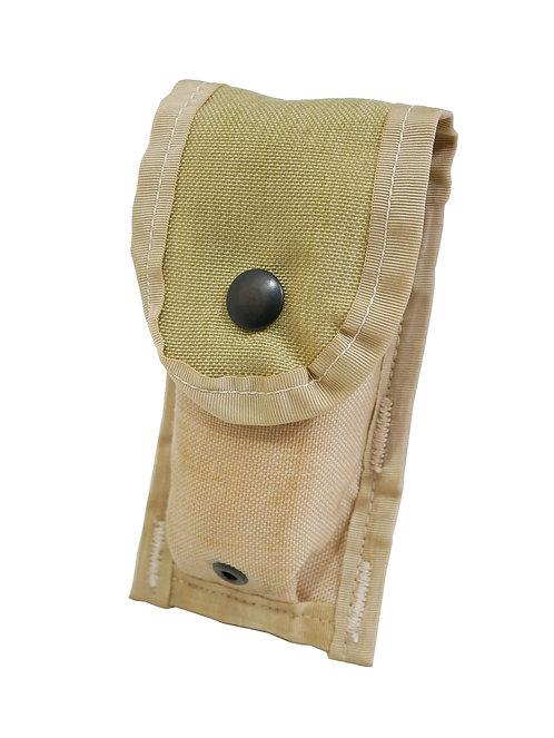 アメリカ軍 9mm シングル マガジンポーチ 3Cデザートカモ 【新品】 ※汚れ有り