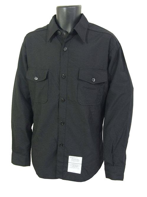 アメリカ軍 USN ロングスリーブシャツ ブラック