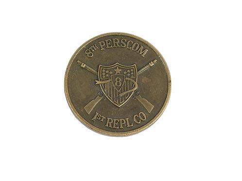アメリカ軍 チャレンジコイン 8th PERSCOM 1st REPL CO