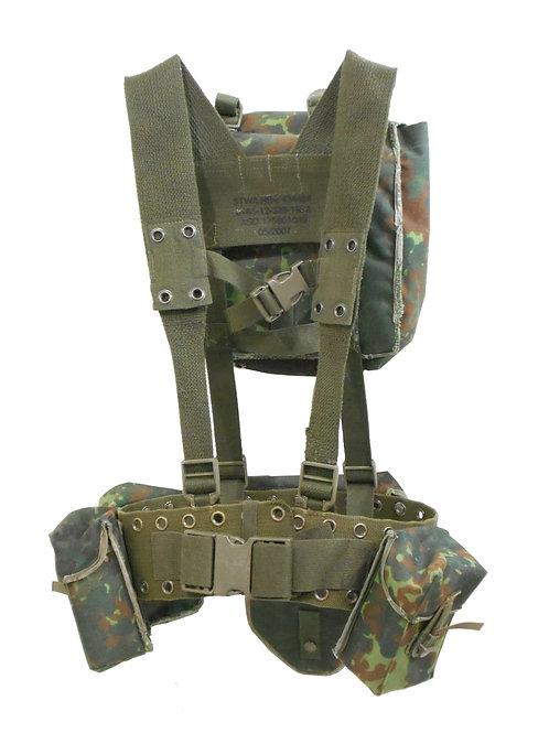 ドイツ軍 ウェビングセット ポーチ付き フレクターカモ Bセット