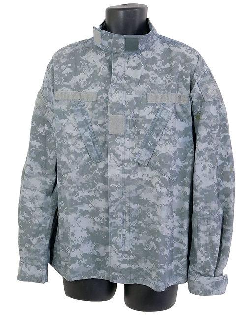 アメリカ軍 看守ジャケット 青染めACU 背面字あり XL ※表記Lレギュラ