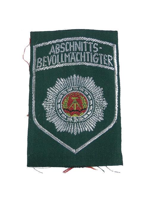 東ドイツ警察 ワッペン Abschnitts bevollmachtigter 【新品】