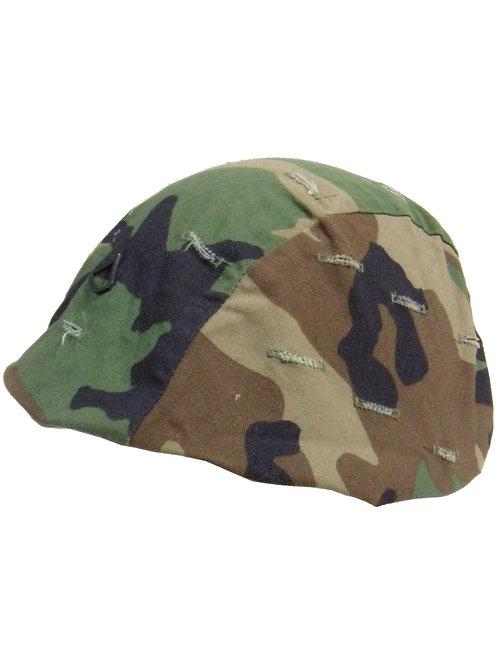 アメリカ軍 PASGT用 ヘルメットカバー WD ピンズ付き