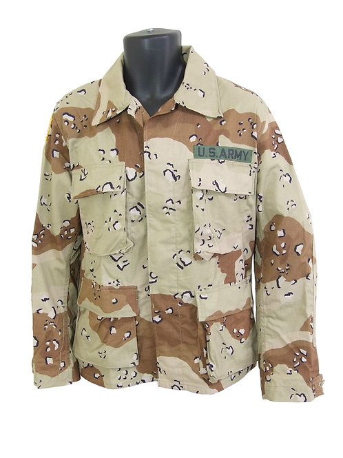アメリカ軍 BDUジャケット 6Cデザート ※FORSCOMワッペン付き