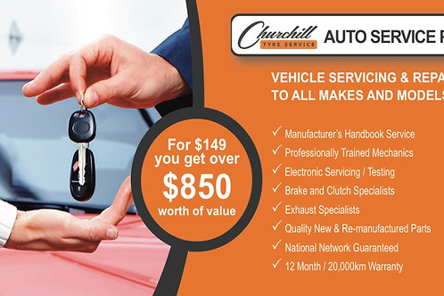 Auto Service Pass - Churchill Automotive & Tyre Service Membership