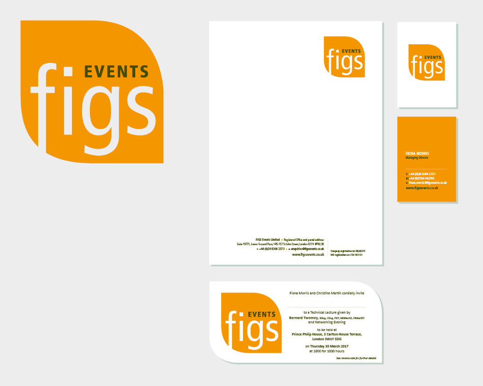 Figs Events logo and Stationery