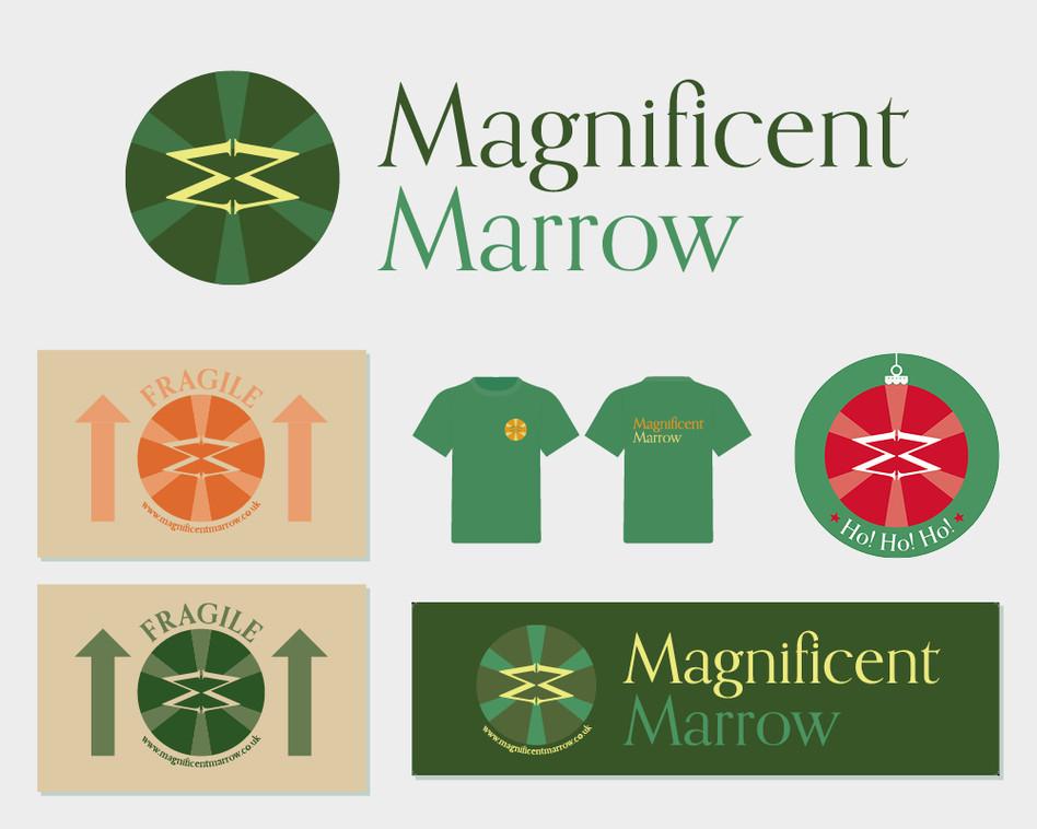Magnificent Marrow Shop logo and artwork