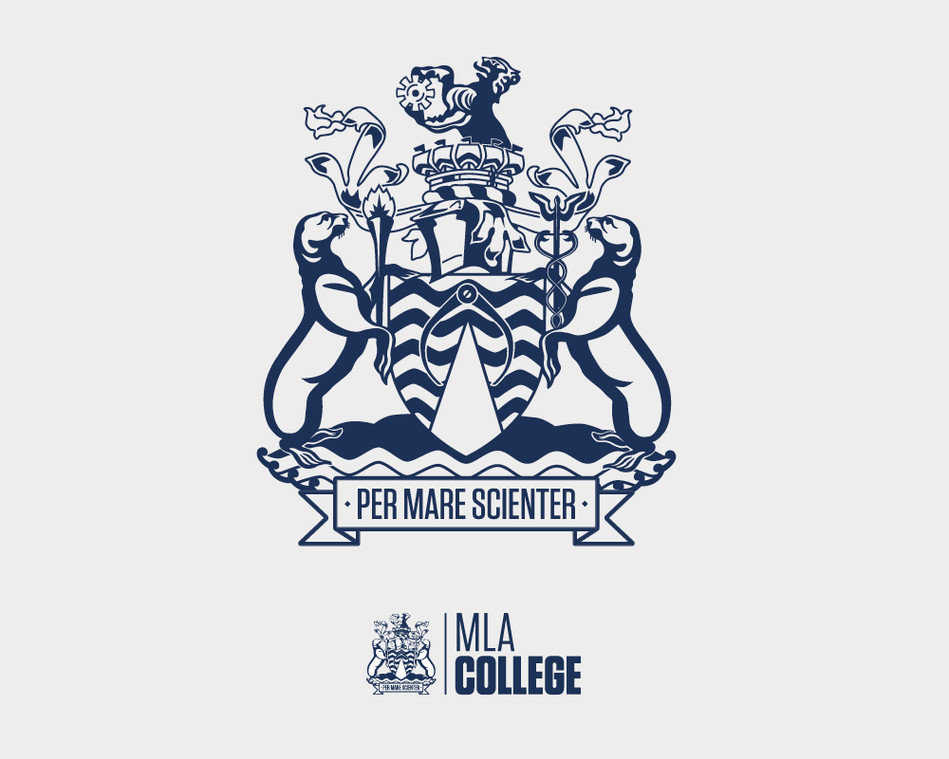 Crest illustration for MLA College logo