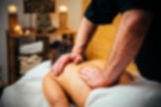 Woman enjoying relaxing back massage in
