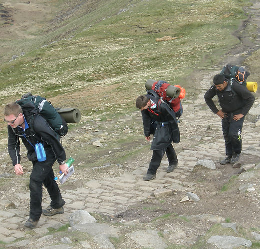 DofE Gold Expedition - The Dark Peak District - Following the Path