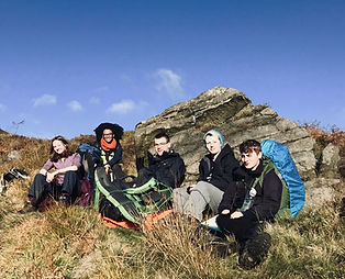DofE Gold Expedition - The Brecon Beacons - Taking a Break in the Sunshine