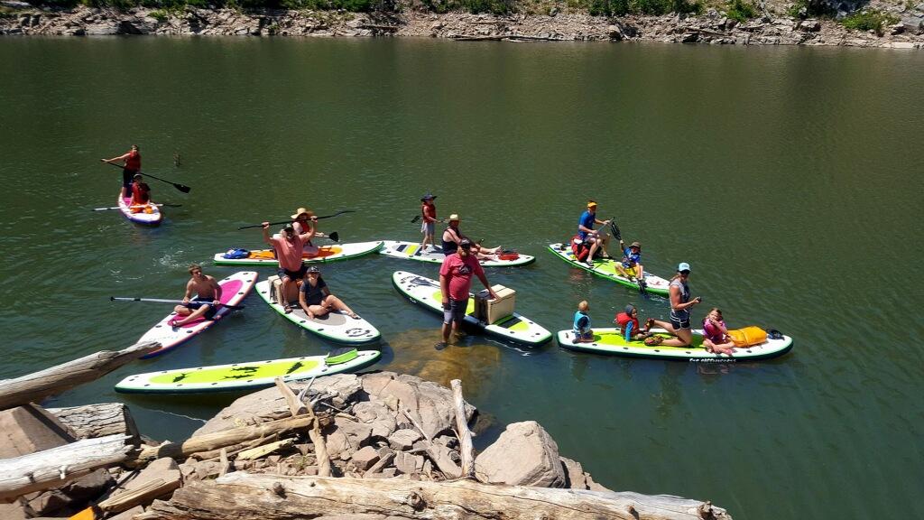 Group paddleboarding!