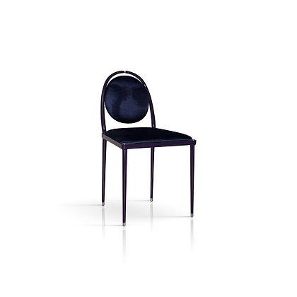 Balzaretti Chair in Deep Purple Moire Pattern Silk