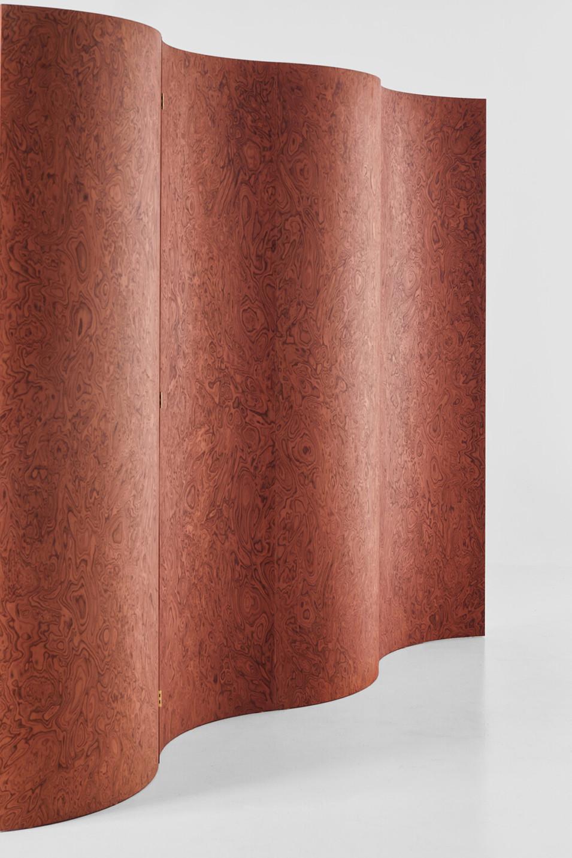 Separe Room Divider Screen in Terracotta