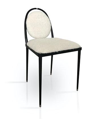 Balzaretti Chair in White Mohair