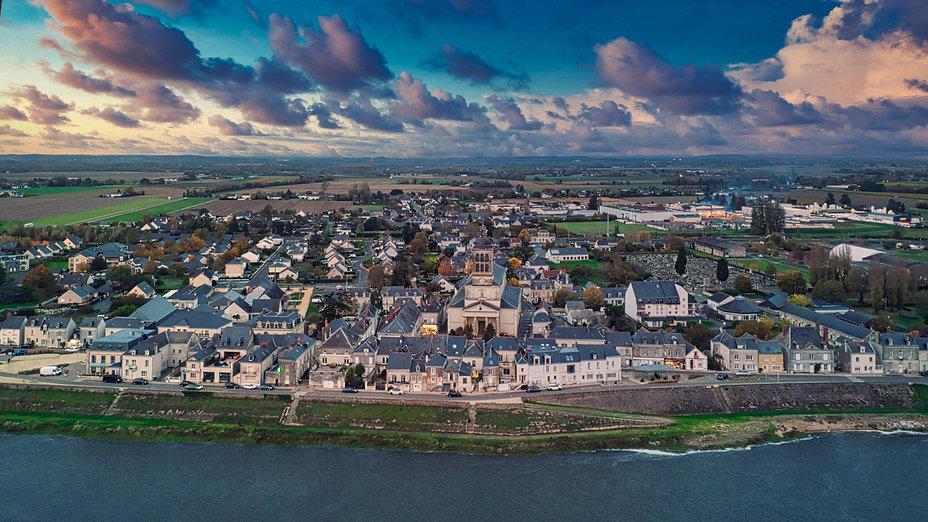 Vue du ciel de Saint-Mathurin-sur-Loire