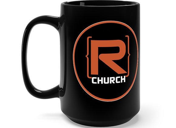 R-Church Coffe 15oz Mug - Black