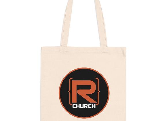 R-Church Reusable Tote Bag - Black Logo