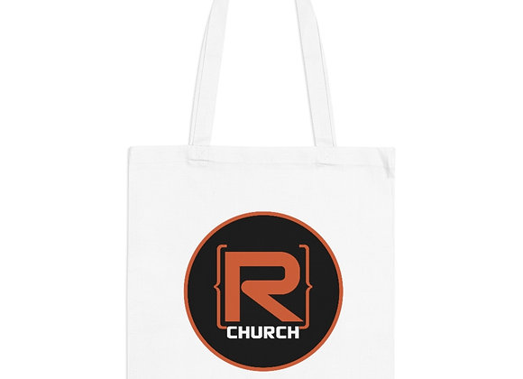R-Church Reusable Tote Bag - Black Logo