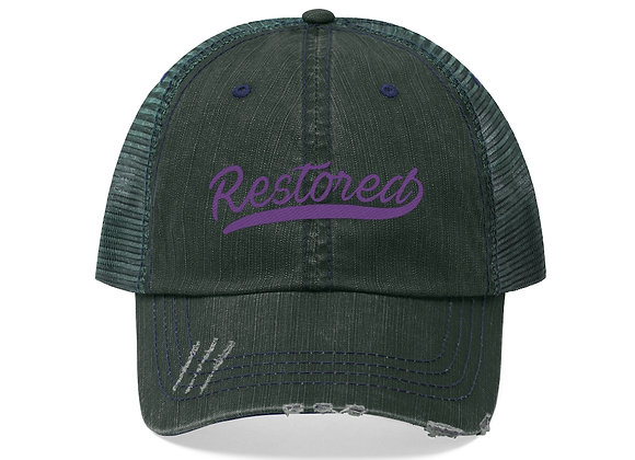 Restored Trucker Hat - Purple