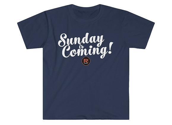 Sunday is Coming Logo Soft Style T-Shirt