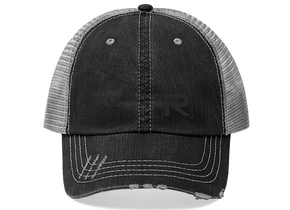 R-Logo Silhouette Embroidered Trucker Hat