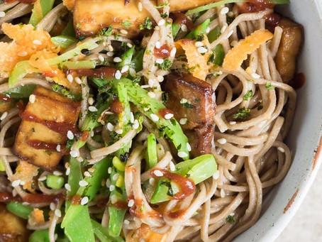 """Veggie Soba Noodles """"Salad"""""""