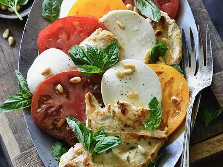 Roasted Chicken Caprese Salad