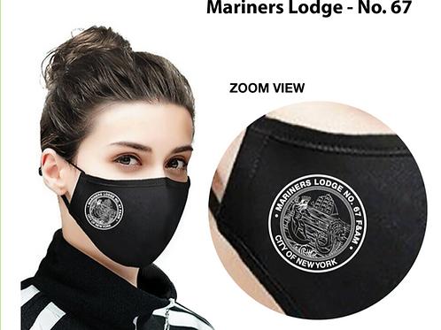 Mariners Black Logo Mask