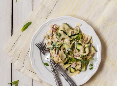 Chicken Alfredo with Zucchini - Keto