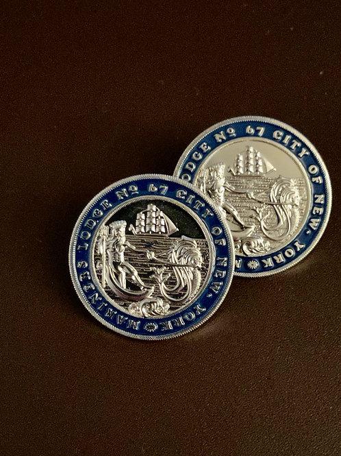 Mariners Seal Pin - Silver - Single