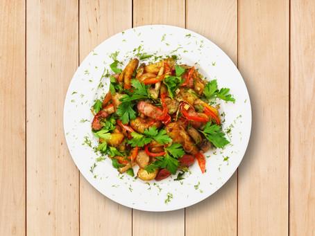 Warm Potato and Mushroom Salad