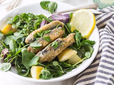 Sardine Salad with Herb Mustard Dressing