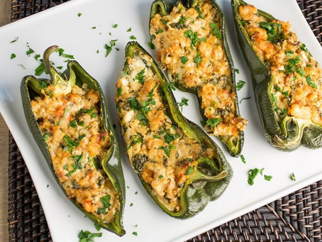 New Orleans Shrimp Stuffed Poblano Peppers