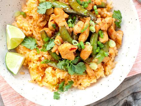 Spicy Thai Chicken over Coconut rice