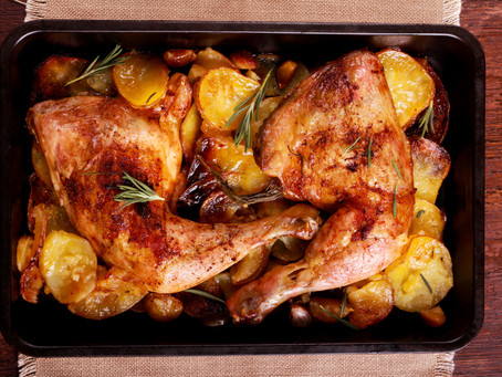 Oven Roasted Chicken with Roasted Veggie