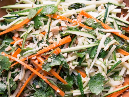 Spicy Carrot, Zucchini Slaw – Variation