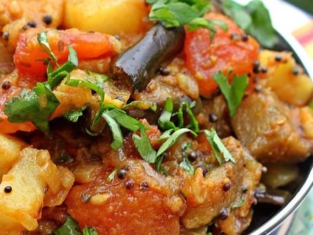 Curried Eggplant & Potatoes