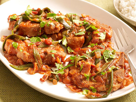 Pork Chops with Onions and Peppers