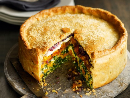 Butternut and spinach pie