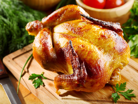 Classic Roasted Chicken with Herb Roasted Potatoes