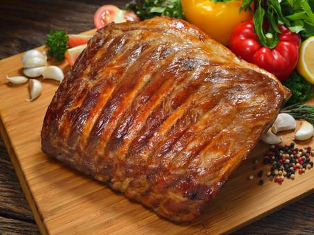 BBQ Rack of Pork Chops.
