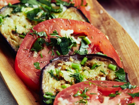 Marinated Eggplant and Tomatoes