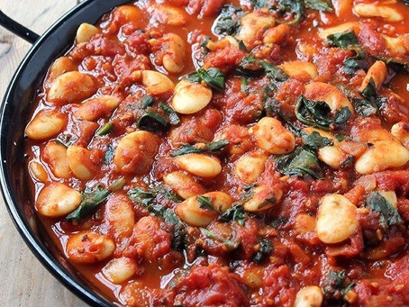 Tomato, Beans and Spinach Stew