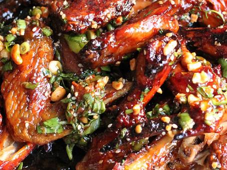 Peanut Thai Chicken Wings