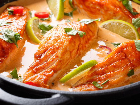Salmon in a Coconut Curry