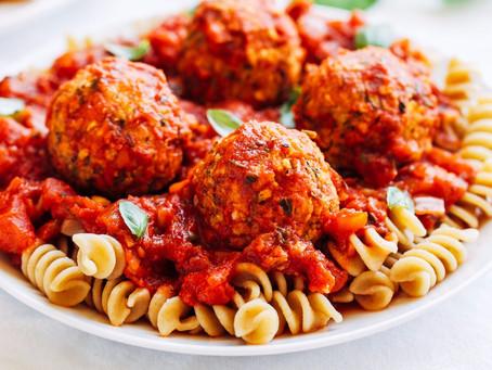 "Zucchini ""Meatballs"" in Marinara Sauce"