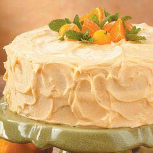 Orange Layer Cake with Banana Filling